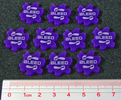 Bleed Tokens, Purple (set of 10) - Top Shelf Gamer - 1