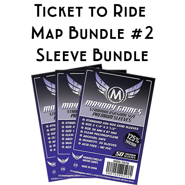 Ticket To Ride India Map.Card Sleeve Bundle Ticket To Ride Map Bundle 2 Top Shelf Gamer
