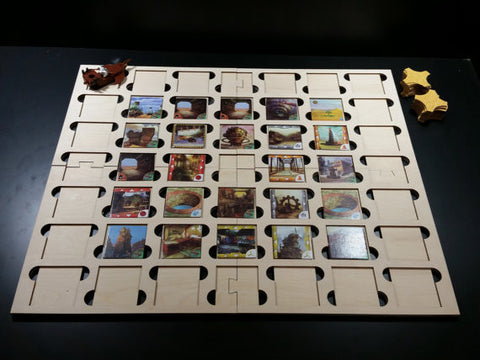 Forbidden Desert™ or Forbidden Island™ laser cut game board to hold the tiles in place