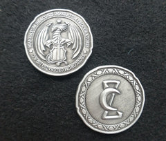 Draco Silver Coin (set of 10) - Top Shelf Gamer