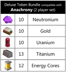 Deluxe Token Bundle compatible with Anachrony (2 player set) (set of 55)