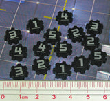 Identification Tokens #1-5, Black (set of 15)