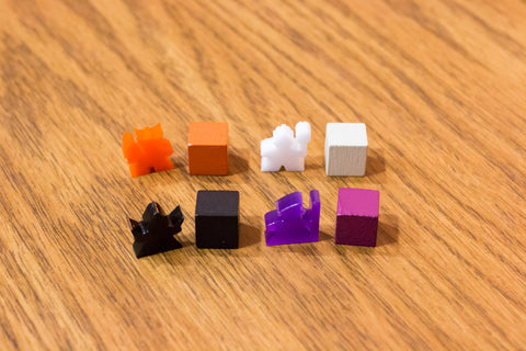 DnDeeples, Acrylic - Lords of Waterdeep Meeples (set of 100)