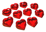 Red Hearts (set of 10)