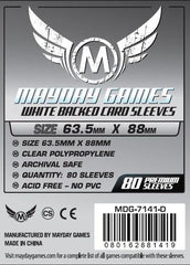 PREMIUM Mayday 63.5 x 88mm Gray Backed Card Sleeves (set of 80) - Top Shelf Gamer