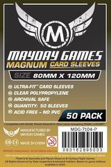 Mayday Black-Backed Card Sleeves: 80 x 120mm (set of 50) - Top Shelf Gamer