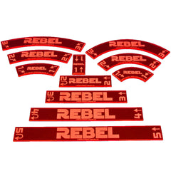 Maneuver Gauge Set - Rebel (set of 11) - Top Shelf Gamer