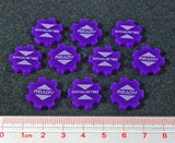Ready Exhausted Tokens, Purple (set of 10) [clearance]