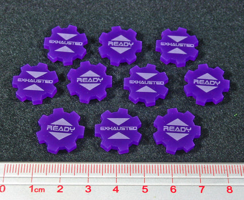 Ready Exhausted Tokens, Purple (set of 10)