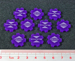 Ready Exhausted Tokens, Purple (set of 10) - Top Shelf Gamer - 1
