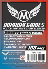 "Mayday Card Sleeves ""Police Precinct"" 63.5 X 92mm (set of 100) [clearance]"