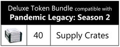 Deluxe Token Bundle compatible with Pandemic Legacy: Season 2 (set of 40)