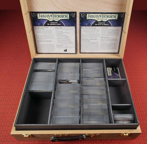 Foamcore Storage System insert compatible with Arkham Horror the Card Game (pre-assembled)