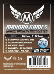 PREMIUM Mayday 63.5 x 88mm Brown Backed Card Sleeves (set of 80) - Top Shelf Gamer