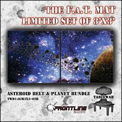 F.A.T. Mat: Asteroid Bundle 3x3' (Limited Edition) [clearance] - Top Shelf Gamer