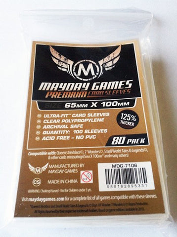 PREMIUM Mayday Ultra-Fit Card Sleeves: 65 x 100mm (set of 80)