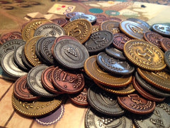 Custom Metal Lira Coins (set of 72) - Top Shelf Gamer - 1
