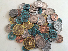 Metal Coins for Scythe (set of 80) - Top Shelf Gamer