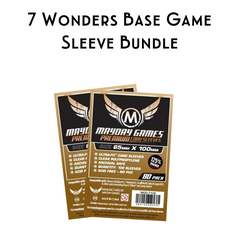 Card Sleeve Bundle: 7 Wonders Base Game - Top Shelf Gamer