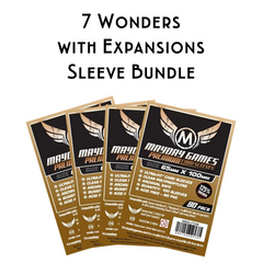 Card Sleeve Bundle: 7 Wonders plus Expansions - Top Shelf Gamer