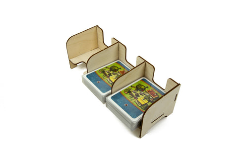 Card Holder: 3 Section Standard-Size Card Decks