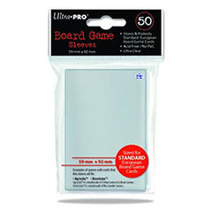 Ultra-Pro Standard European Card Sleeves: 59 x 92mm  (set of 50) - Top Shelf Gamer