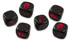 Zombicide: Dice Pack - Black Dice - Top Shelf Gamer