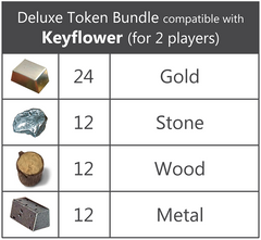 Deluxe Token Bundle compatible with Keyflower™ (2 player set) (set of 60)