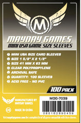 Mini USA Card Sleeves : 41 x 63mm (set of 100) - Top Shelf Gamer