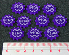 Stun Tokens, Purple (set of 10) - Top Shelf Gamer - 1