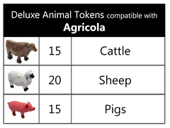 Deluxe Animal Tokens compatible with Agricola™ (set of 50)