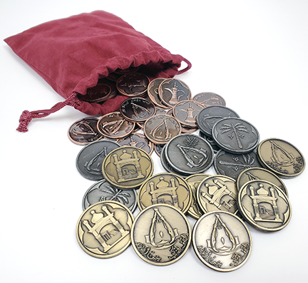 Arabian Coins Set in Burgundy Bag (set of 50)