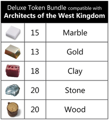 Deluxe Token Bundle compatible with Architects of the West Kingdom™ (set of 86)