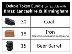 Deluxe Token Bundle compatible with Brass™ (set of 63)