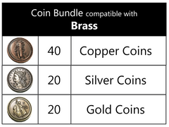 Coin Bundle Compatible with Brass™ (set of 80)