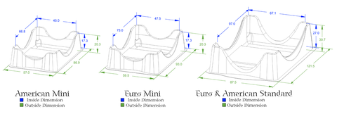 Deck Holder - Mini Euro cards (set of 1)