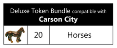 Carson City™ compatible Deluxe Token Bundle (set of 20)