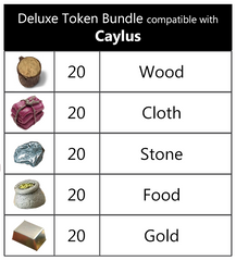 Caylus™  compatible Deluxe Token Bundle (set of 100)