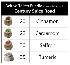 Century Spice Road™ compatible Deluxe Token Bundle (set of 107)