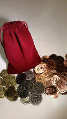 Credit Coins Set with Burgundy Bag (set of 50) - Top Shelf Gamer