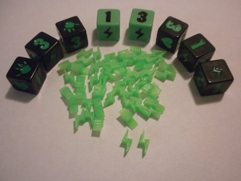 Lightning bolt meeples for King of Tokyo (set of 50)