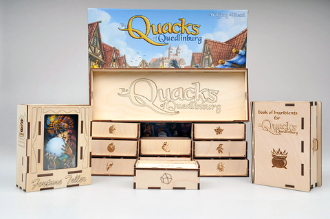 Wooden Insert compatible with Quacks of Quedlinburg