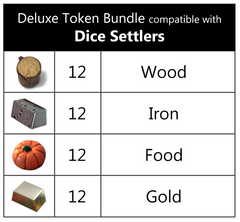 Deluxe Token Bundle compatible with Dice Settlers™ (set of 48)