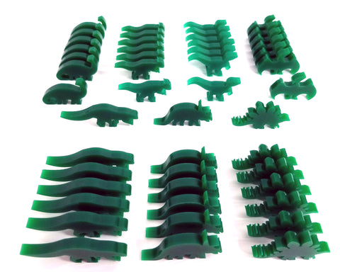 Green Acrylic Dinosaurs compatible with Dinosaur Island (set of 49)