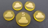 Acrylic Resource Tokens compatible with Terraforming Mars™ Venus Expansion (set of 23)