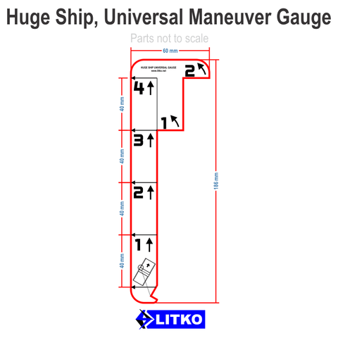 Huge Ship Fl. Blue Maneuver Gauge (set of 1)