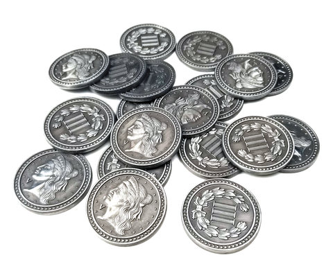 Coin Bundle Compatible with Great Western Trail™ (set of 55)