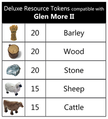 Deluxe Token Bundle compatible with Glen More II™ (set of 90)