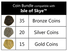 Coin Bundle Compatible with Isle of Skye™ (set of 70)