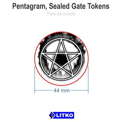 Pentagram, Sealed Gate Tokens (set of 3)